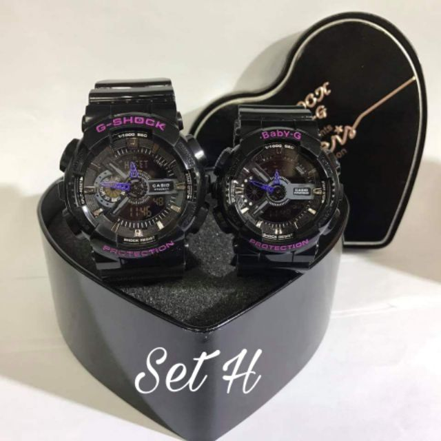 Gshock Baby G Couple Set + FREE Couple Box