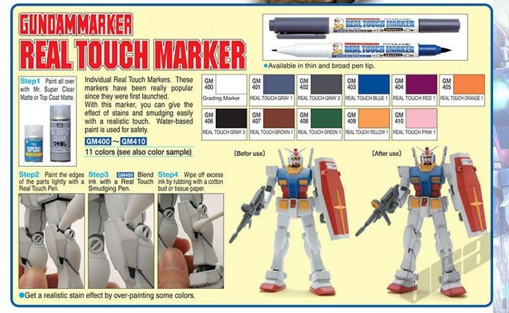 GSI Creos Mr Hobby Gundam Real Touch Marker Blur Shade Gradient GM400