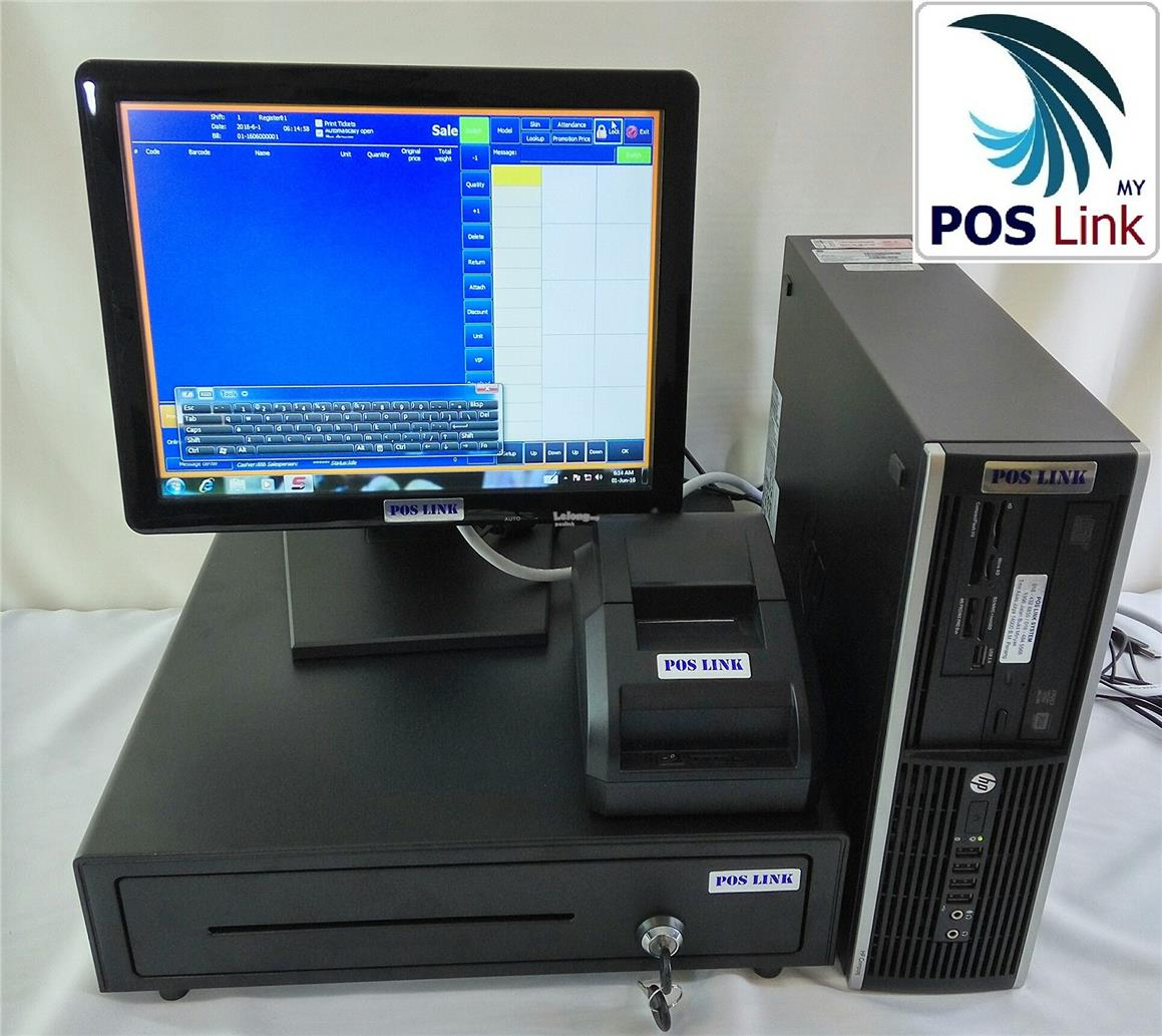 GST POS System - NEC i3 PC+15'Touch Monitor+Printer+Drawer  Econom Set