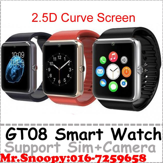 GT08 Smart Watch Support Android IOS,Sim, Camera, Bluetooth Watch