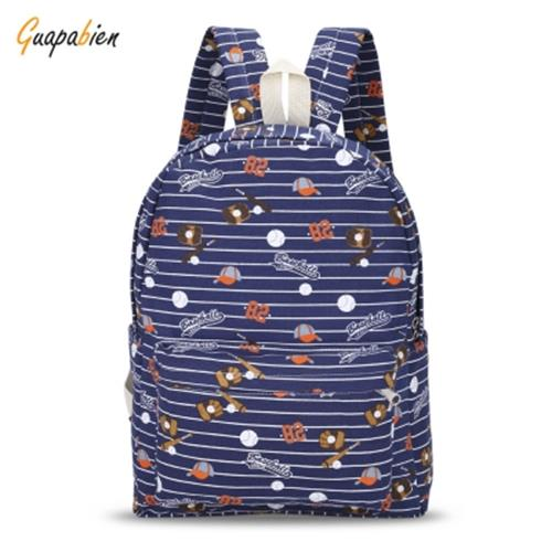 1311262c80 GUAPABIEN CANVAS TEENS PRINT BACKPACK TRAVELING SCHOOL BAG (LIGHT BLUE)