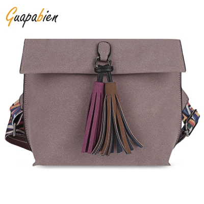 Guapabien Casual Style Tassel Women Shoulder Crossbody Bag