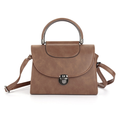 Guapabien PU Pipe Handle Half Cover Women Shoulder Bag
