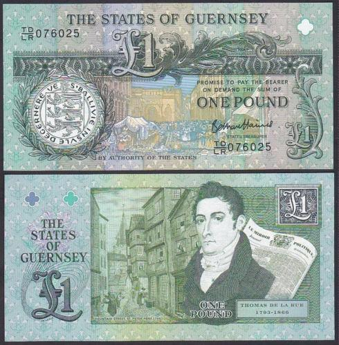 Guernsey 2013 One 1 Pound UNC