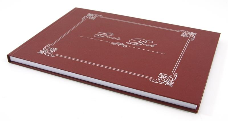 Guests Book Signature Record Hard Cover