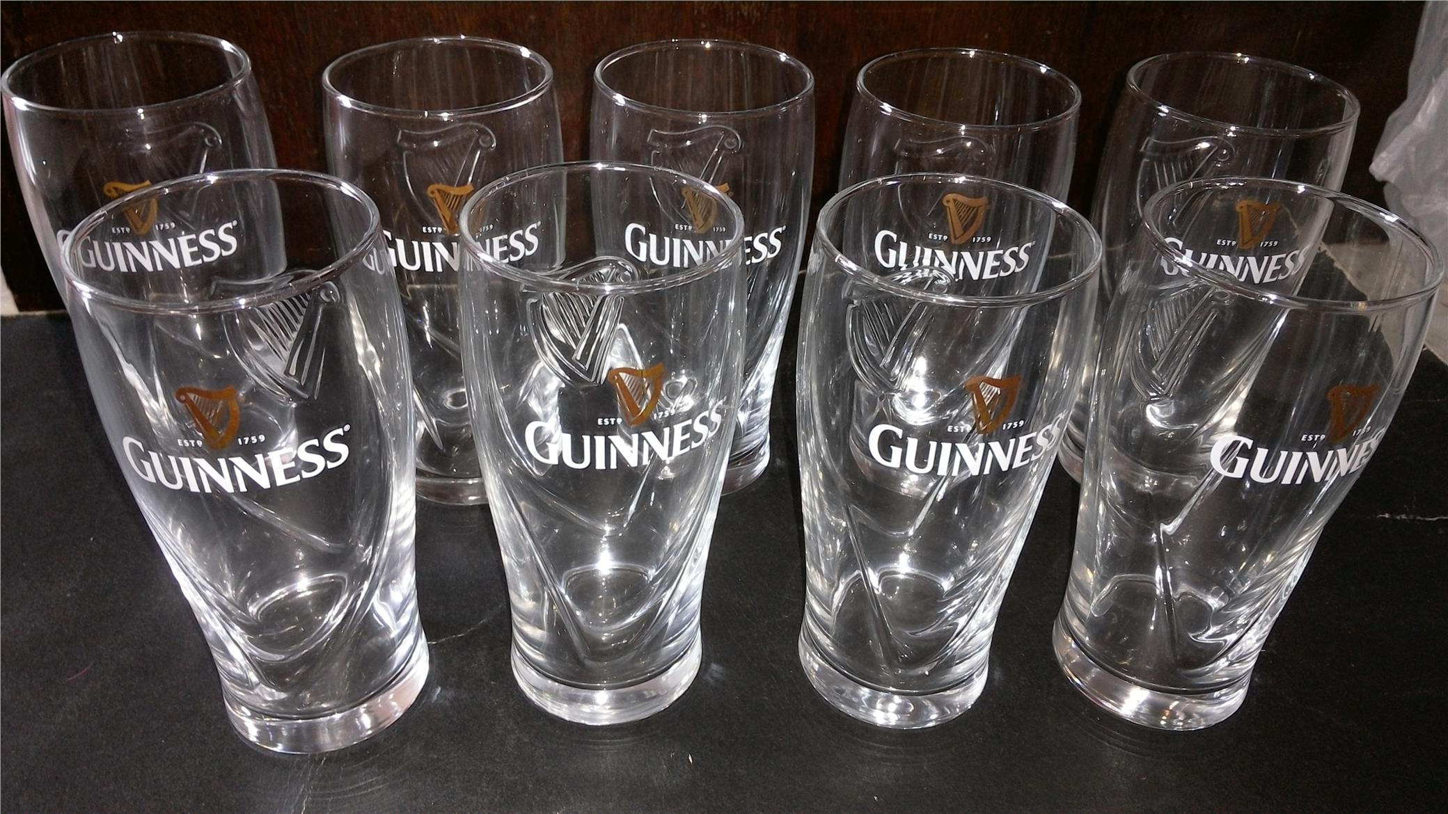 GUINNESS 'LOGO'' GLASS CUP (SET OF 9)