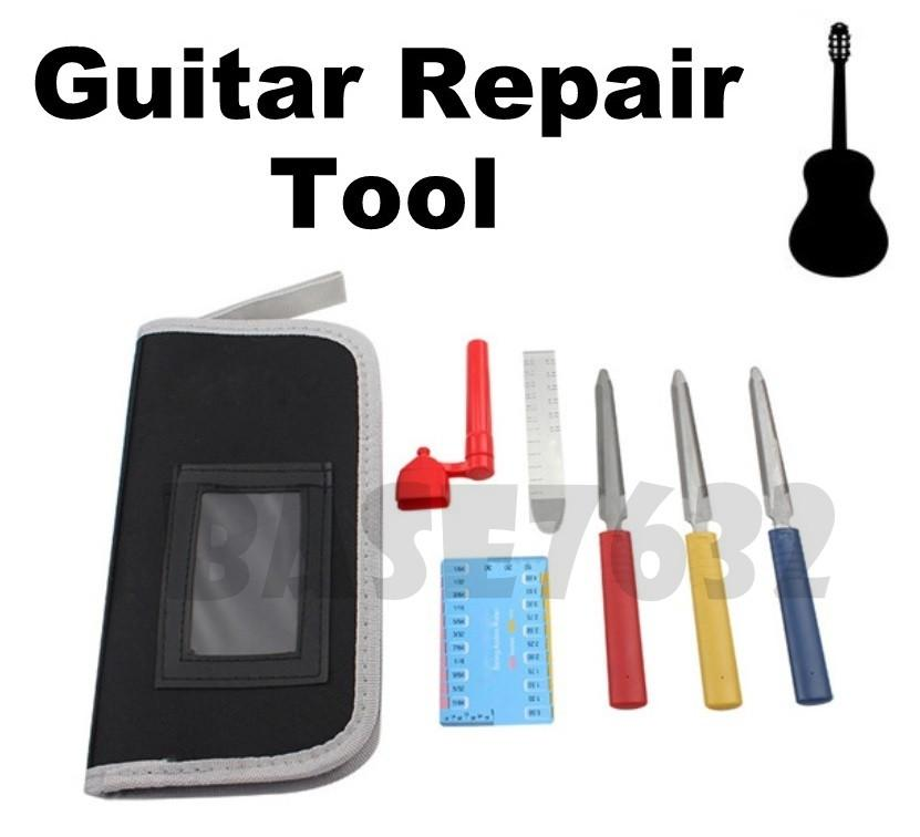 Guitar Luthier Repair Maintenance File Tool Kit with Ruler and Winder