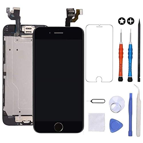 ~ guleek for iPhone 6 Plus Screen Replacement Black Touch Display LCD Digitize