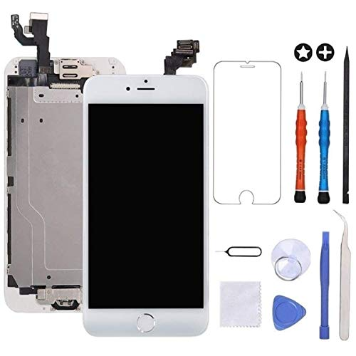 ~ GULEEK for iPhone 6 Screen Replacement White Touch Display LCD Digitizer Ful