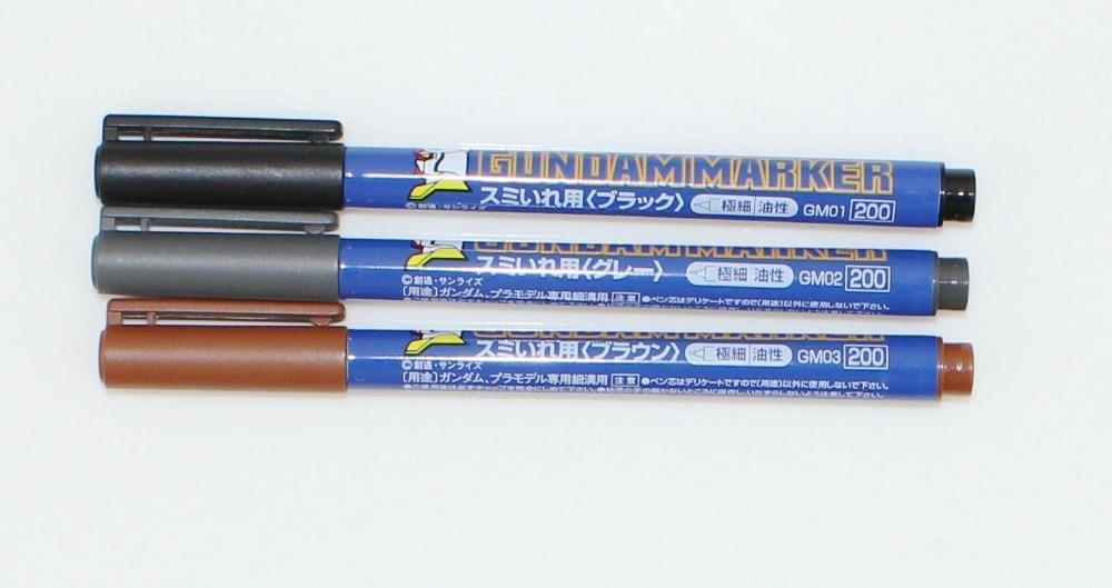 Gundam Marker GM01/02/03/04/05 (Black/Gray/Brown/Gold/Silver)