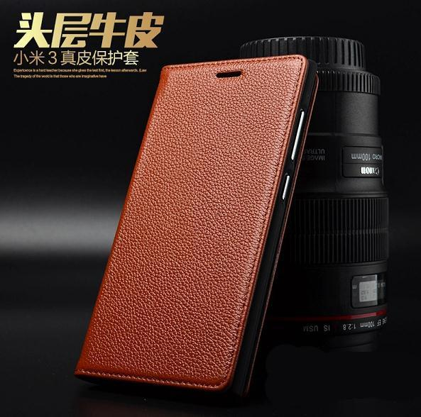 GVH Cow Leather Xiaomi MI3 mi-3 3 Flip Case Cover Casing + Free Gifts?