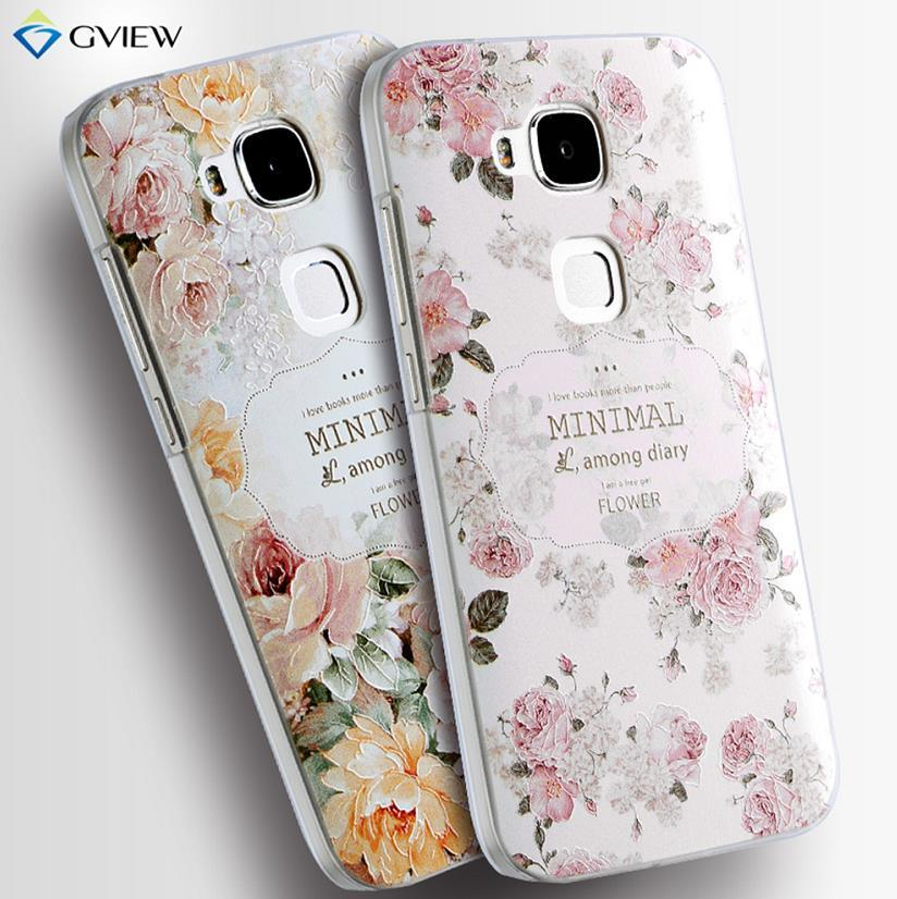 uk availability b47c7 ddca2 Gview Huawei G8 3D Relief Silicone Case Cover Casing + Free Gifts