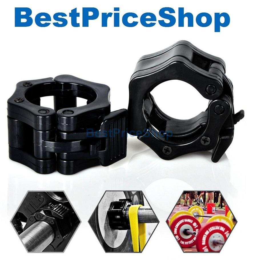 Gym Grade Olympic Barbell Collars Clamp Lock Dumbbell Bar WeightLifing
