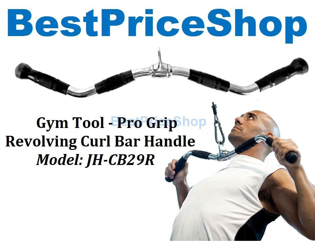 Gym Tool - Pro Grip Revolving Curl Bar Handle Tricep Bars JH-CB29R