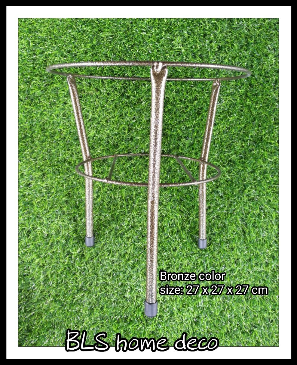 H 27 CM TKH IRON FLOWER POT STAND PLANTS GARDEN DEOCRATION RACK