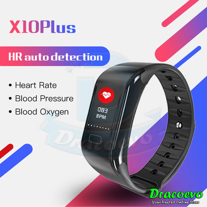 H10 PLUS Color LCD Smart Watch Band Blood Pressure Waterproof Fitness