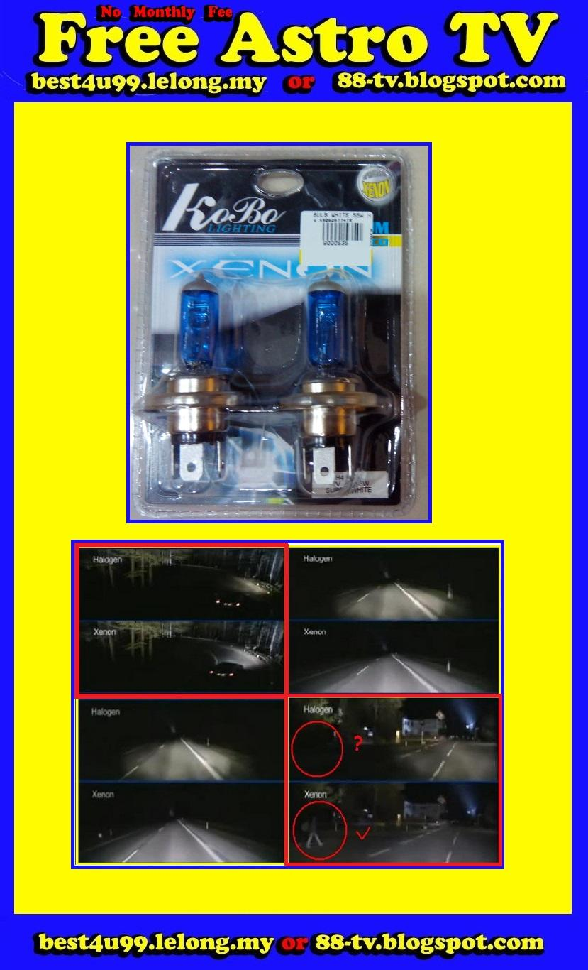 H4 Xenon Super White Head Light &gt Halogen HID Head lamp Brightness R..