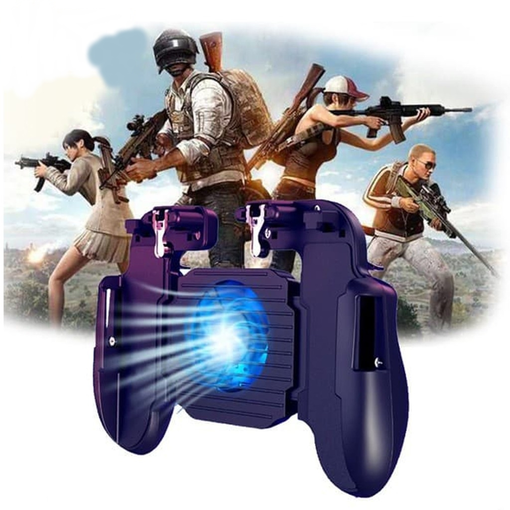 H5 PUBG Mobile Game Controller Android Ios Survival Gamepad Joystick  Cooling F