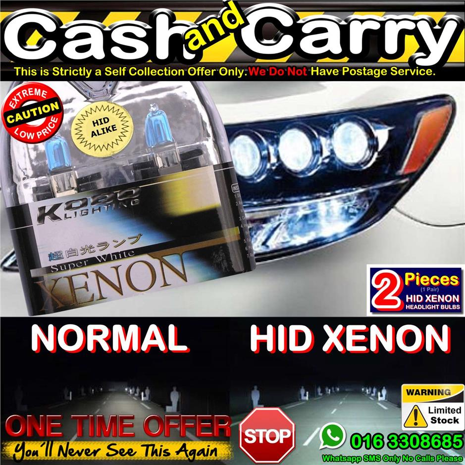 H7 55W 12V 6000K Hid Headlight Halogen Bulbs Kobo Blue Tint White Xeno