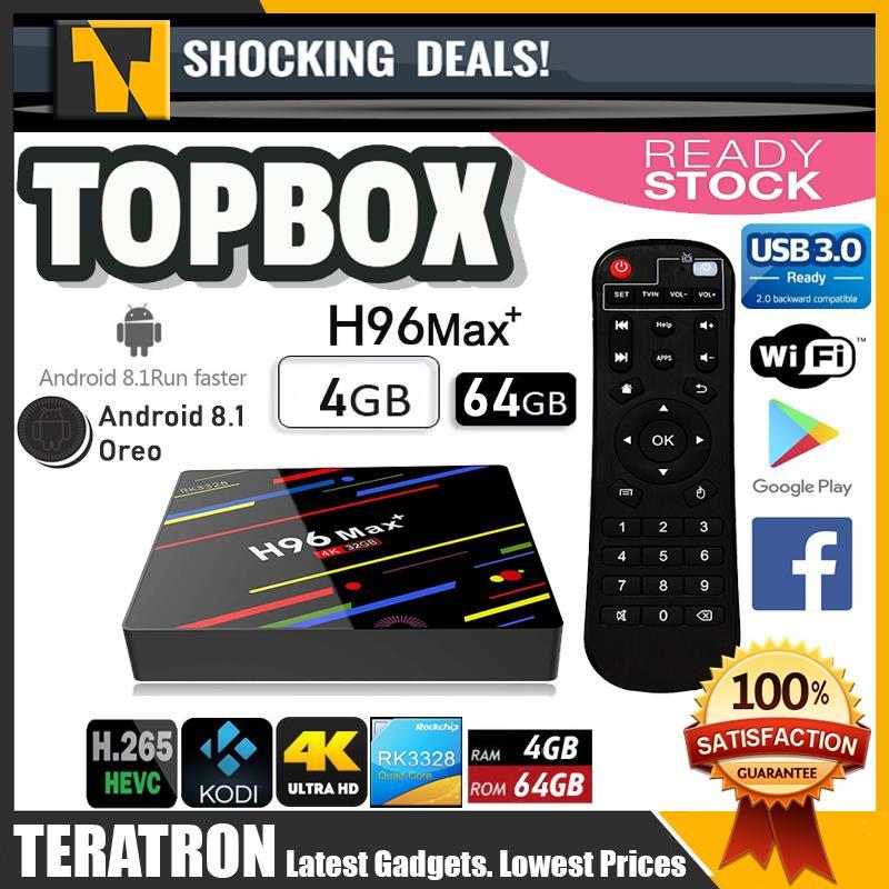 H96 MAX Plus Smart TV Box 4GB RAM 64GB ROM 4K UltraHD Android 8.1