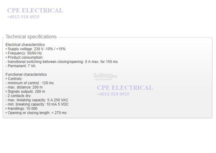 HAGER MZ911 Auto / Remote Reclosing + 2 POLES RCCB ELCB on