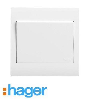 Hager Stylea 10AX 1 Gang 1 Way Switches Gang Switch