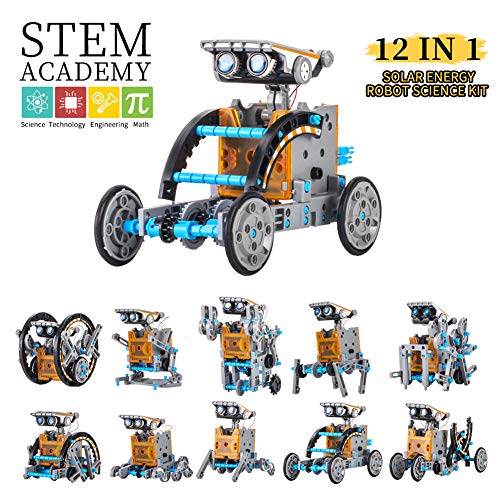 HahaGo Solar Robot Kit STEM Toys 12 in 1 Educational Building Toy DIY Science