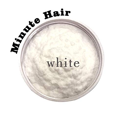 Hair Building Fibers White 57 Grams (2 oz) Minute Hair Refill Hair Loss Concea