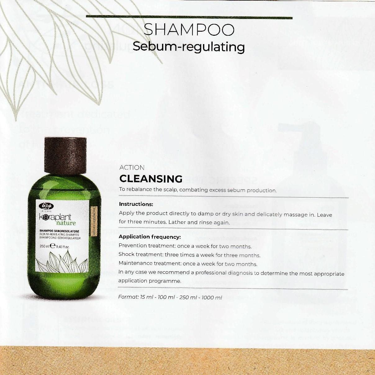 Hair Care Keraplant Nature Sebum-Regulating Shampoo 250ml L005