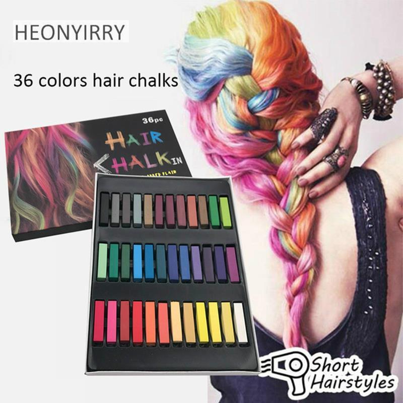 Hair Chalk Dye 36colors Easy Temporary Diy Salon Painting Girl Gift