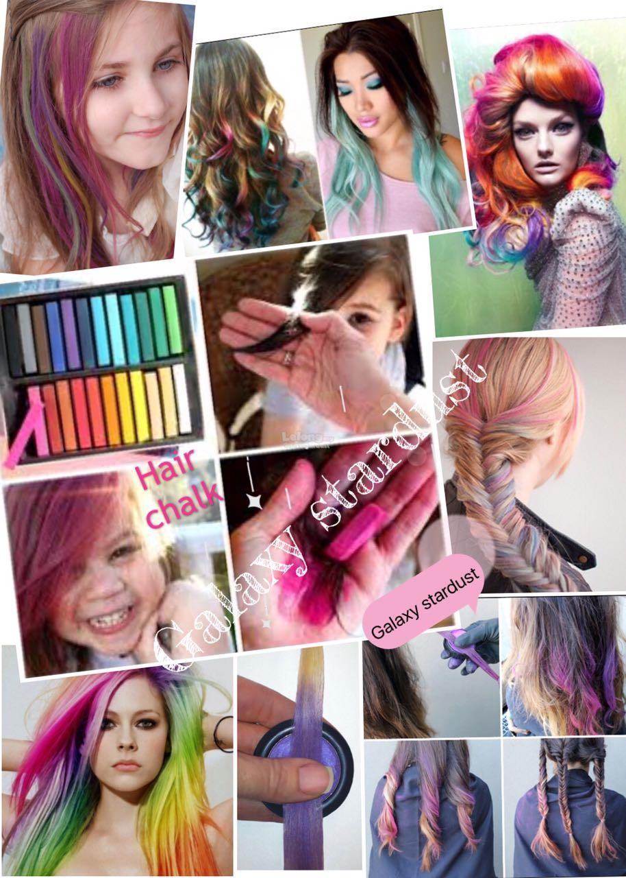 Hair Chalk Hot Huez,Washable,Instant Color No Dye No Damage,Fun Easy