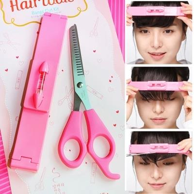 How do you use thinning shears on bangs