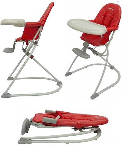 Superior Halford Cygnus Foldable High Chair (Red)   Compact Design