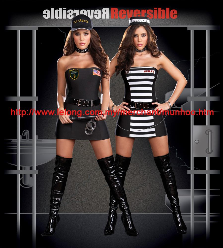 Halloween Cosplay Uniform 2in1 Double Side Reversible Wear Costume 23