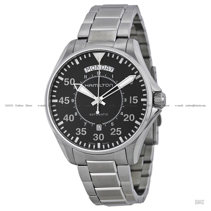 HAMILTON H64615135 Men's Khaki Aviation Pilot Day Date Auto bracelet