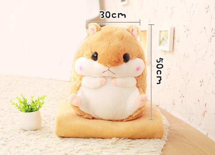 Hamster Plush Toy With Blanket