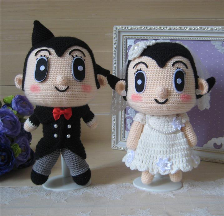 Hand Made Astro Boy Wedding Doll Car Code Wd008