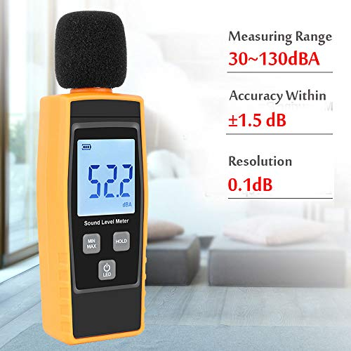 Hand-Held Sound Level Meter,V-Resourcing 30~130 dB Decibel Noise Measurement T