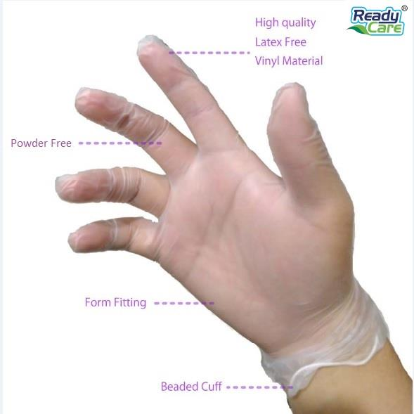 Hand-protection hygiene durable Vinyl disposable  gloves-10 pcs