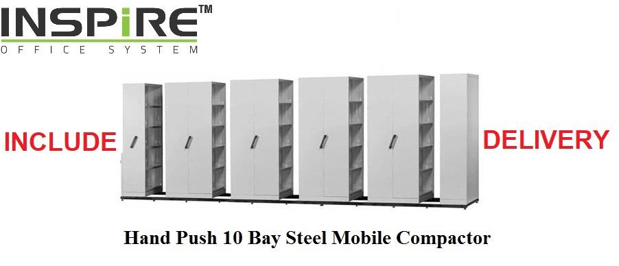 Hand Push 10 Bay Steel Mobile Compactor