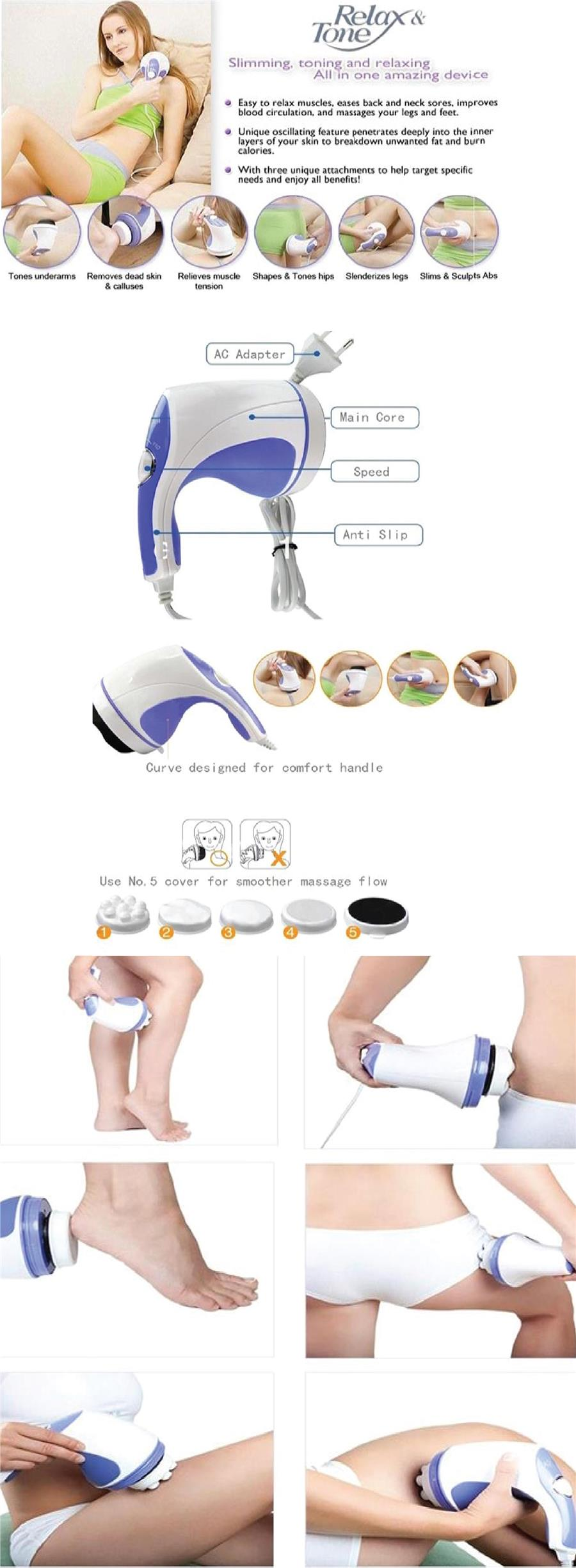 Handheld Relax&Spin Tone Whole Body Massaging Slimming Toning Relaxing