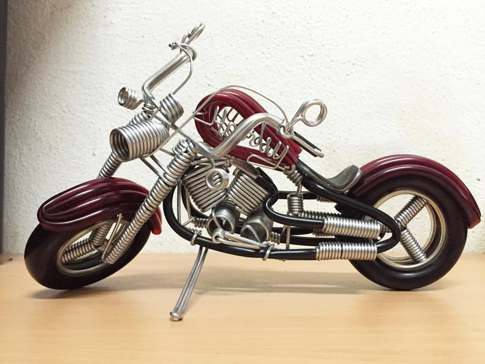 Handmade Harley Davidson Aluminium Coil Wireart  for Collection