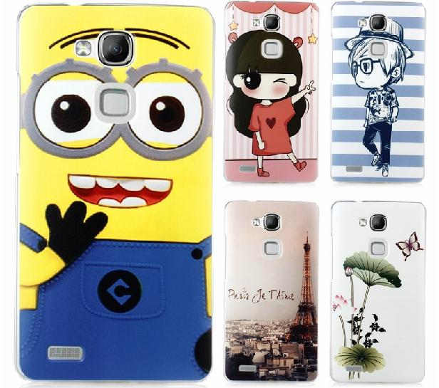 Hange Huawei Ascend Mate 7 Cartoon Hard Back Case Cover + Free SP