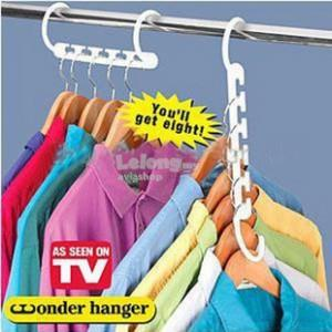 Wonder Hanger Closet Clothes Organizer Space Saver Storage (8pcs)