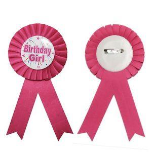 Happy Birthday Baby Shower Award Ribbon Badges for Boy and Girl