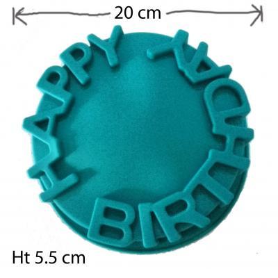 Happy Birthday Cake Tin Silicone Pan 1603a