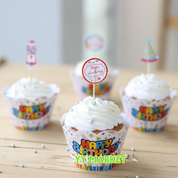 happy birthday cupcake muffin paper end 3 29 2018 5 15 pm. Black Bedroom Furniture Sets. Home Design Ideas