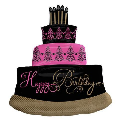 Happy Birthday Damask Cake Giant Foi End 1 15 2019 7 15 Pm