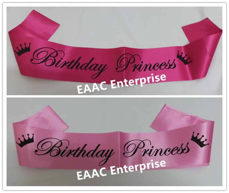 Happy Birthday Prince Princess Selempang Sash Party Decoration