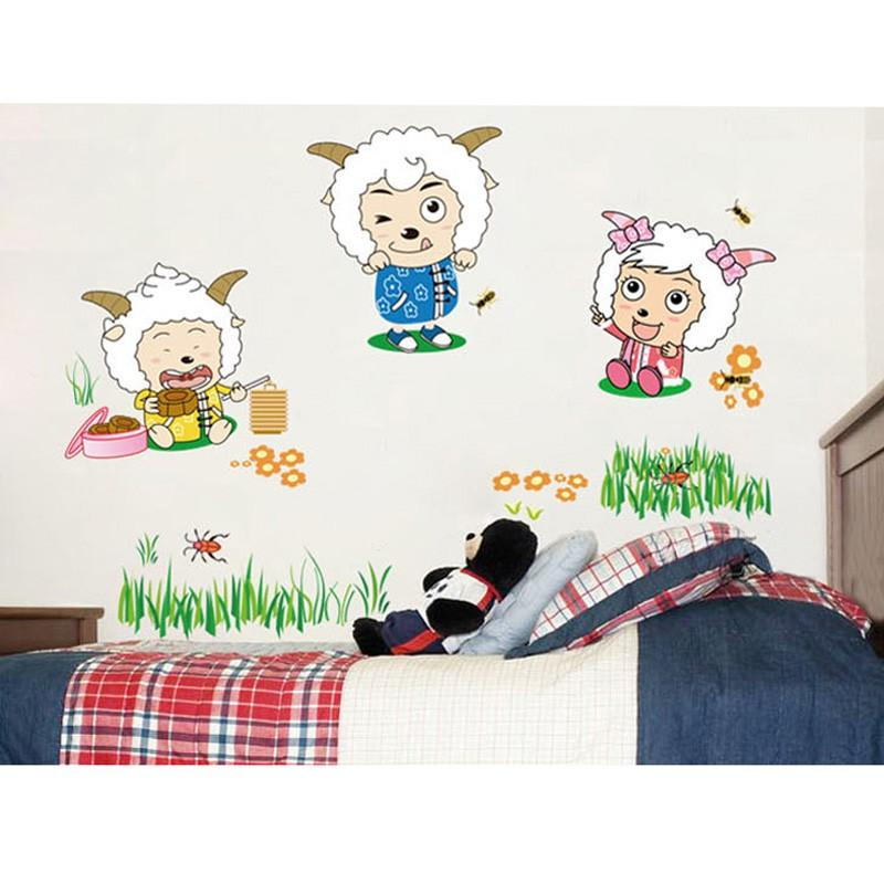 happy sheep removable wall stickers (end 6/19/2020 3:07 pm)